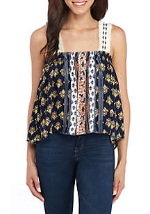 Novelty Strap Cold-Shoulder Top
