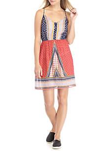 Lattice Front Strappy Dress