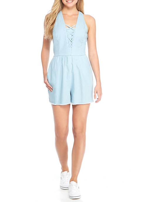 TRUE CRAFT Lattice Romper