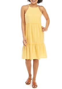 TRUE CRAFT Gathered Midi Dress