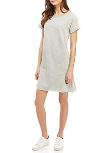 TRUE CRAFT Short Sleeve Heather Dress