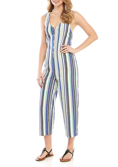 Button Up Striped Jumper