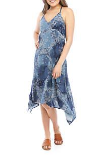TRUE CRAFT Woven Handkerchief Dress