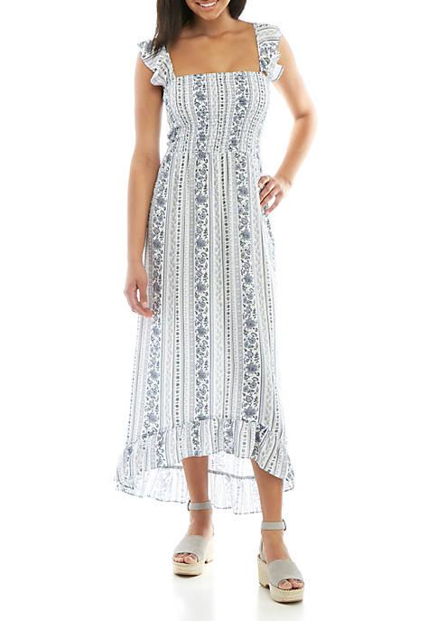 Woven Smocked Maxi Dress