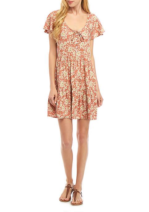 Juniors Printed Dress