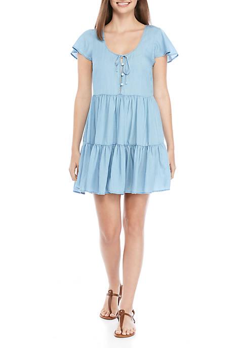 Juniors Chambray Dress