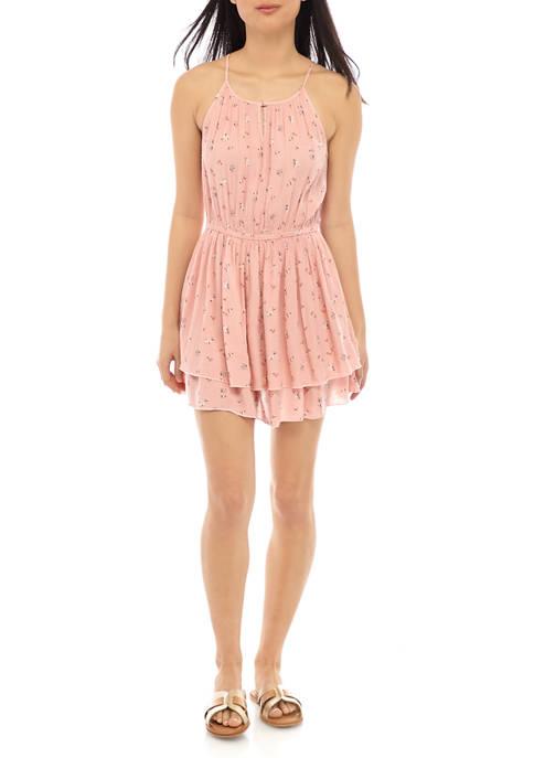 Juniors Tiered Mini Dress
