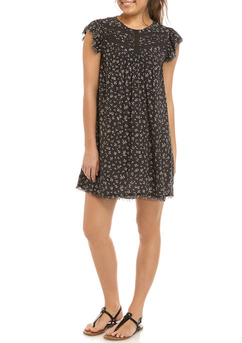 TRUE CRAFT Juniors Lace Yoke Dress