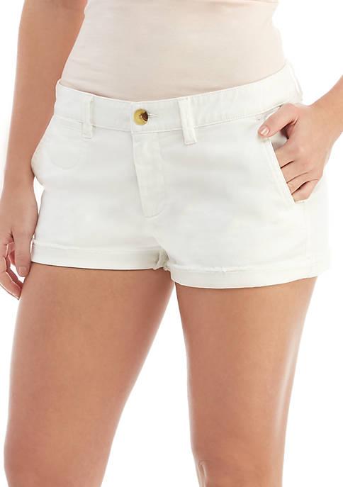 TRUE CRAFT Raw Hem Chino Shorts