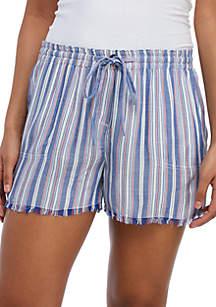 TRUE CRAFT Woven Pocket Stripe Shorts