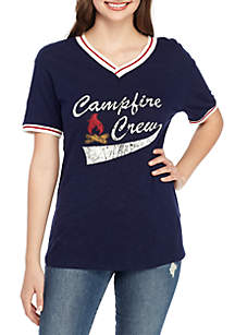 TRUE CRAFT V-Neck Varsity  Tee