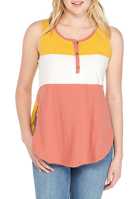 TRUE CRAFT Colorblock Varsity Tank