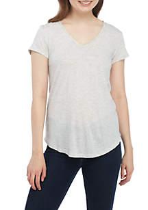 Short Sleeve V-Neck Tee Shirt