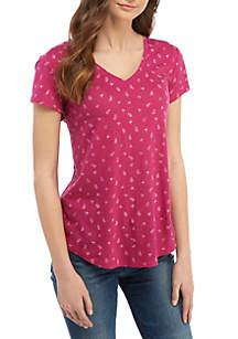 TRUE CRAFT V-Neck Graphic T Shirt