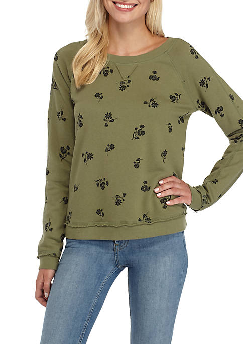 TRUE CRAFT Floral Print Sweatshirt