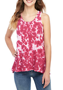 TRUE CRAFT Tie Dye Tunic Tank Top