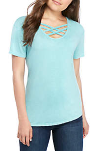 TRUE CRAFT Lace Front T Shirt