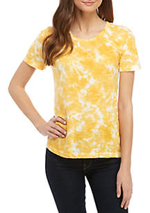 TRUE CRAFT Tie Dye Crew Neck Top