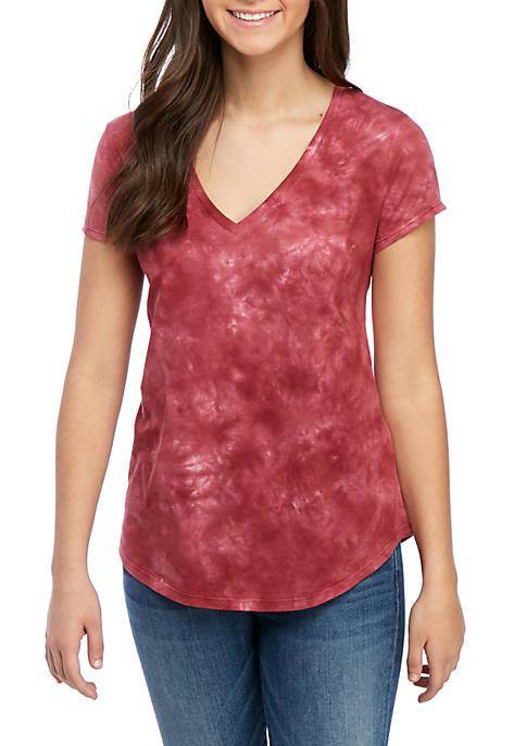 Tie Dye V Neck T Shirt