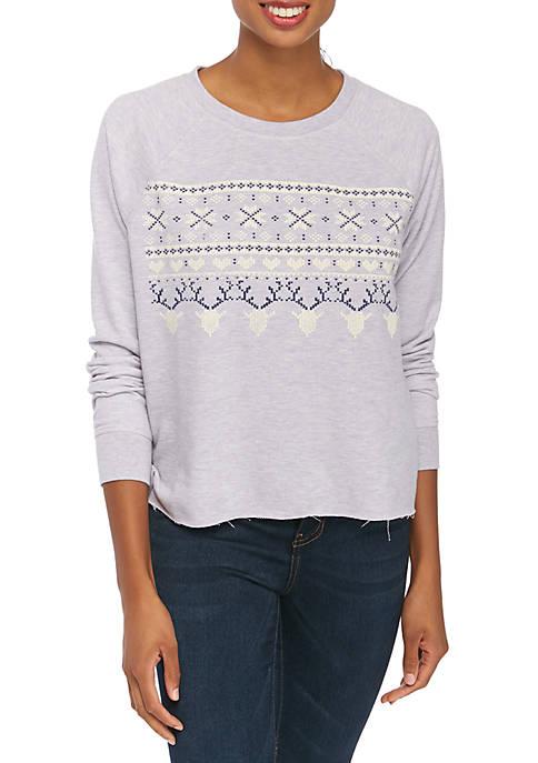 Heather Graphic Sweatshirt