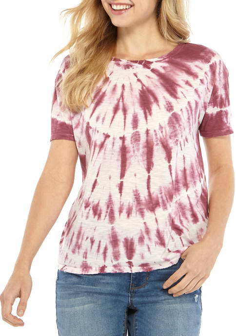 Womens Crew Neck Tie Dye T-Shirt