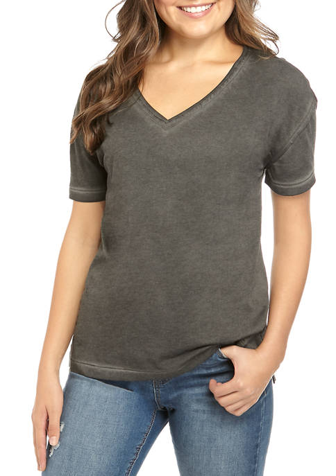 TRUE CRAFT Juniors Boxy V-Neck T-Shirt