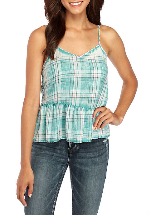 TRUE CRAFT Peplum Tank