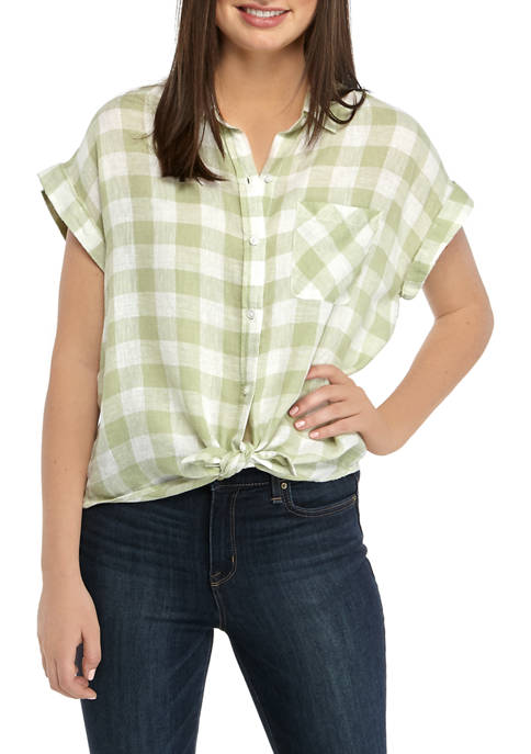 TRUE CRAFT Juniors Short Sleeve Camp Shirt