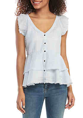 70e9011e1 Cold Crush Short Sleeve Sun Kissed Graphic T Shirt. $11.99 With Coupon.  Orig. $30.00. TRUE CRAFT Woven Ruffle Shoulder Top ...