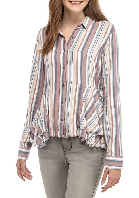 TRUE CRAFT Juniors Vented Button Up Shirt