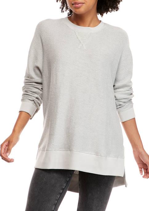 Drop Shoulder Crew Neck Sweater