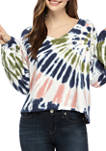 Juniors Long Sleeve Crop Sweatshirt