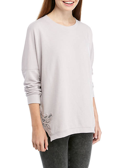 Soft Shop Lace Crew Sweatshirt