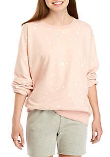 66859ba5 ... TRUE CRAFT Soft Shop Crew Neck Star Print Sweatshirt