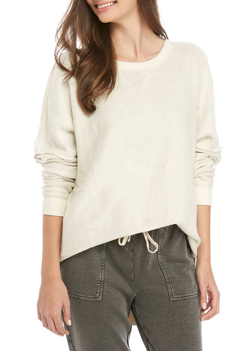 Soft Shop Reverse Terry Crew Sweatshirt