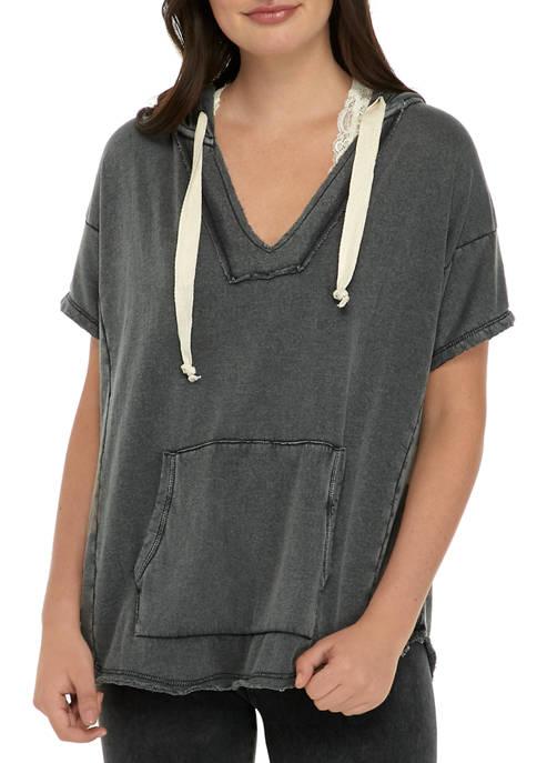 Juniors Short Sleeve Hoodie