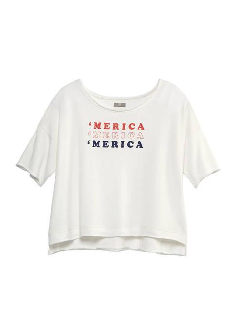 Juniors Short Sleeve Graphic T-Shirt