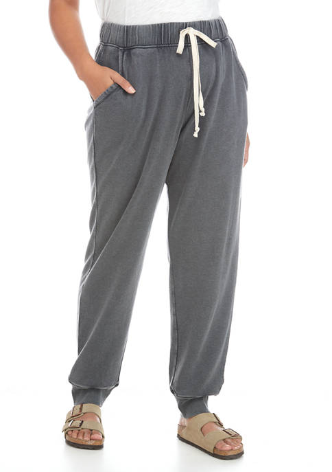 Plus Size Washed Joggers