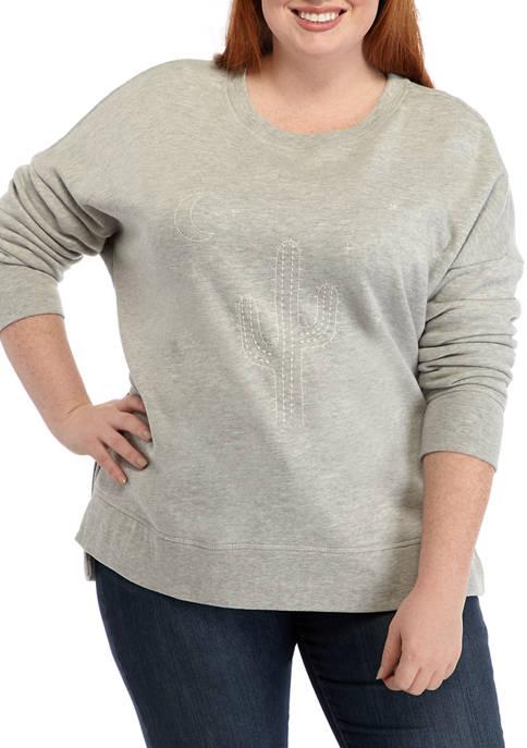 Soft Shop Plus Size Crew Sweatshirt
