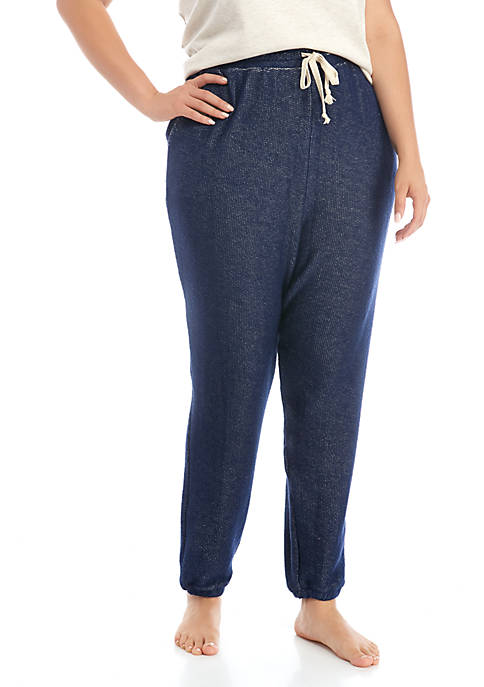 Soft Shop Plus Size Reverse Terry Joggers