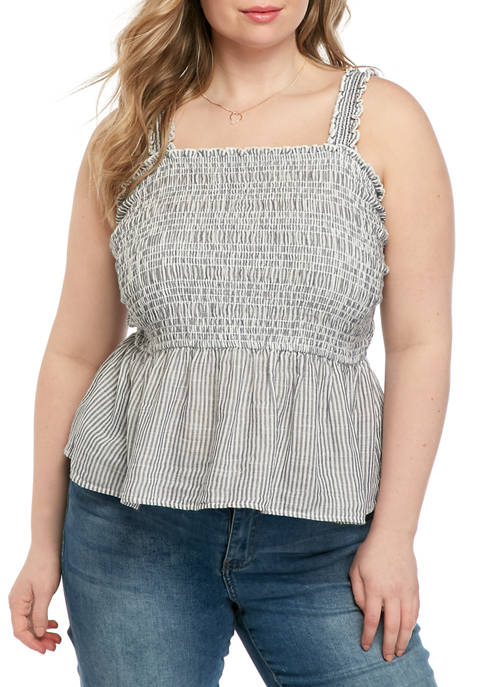Plus Size Smocked Top