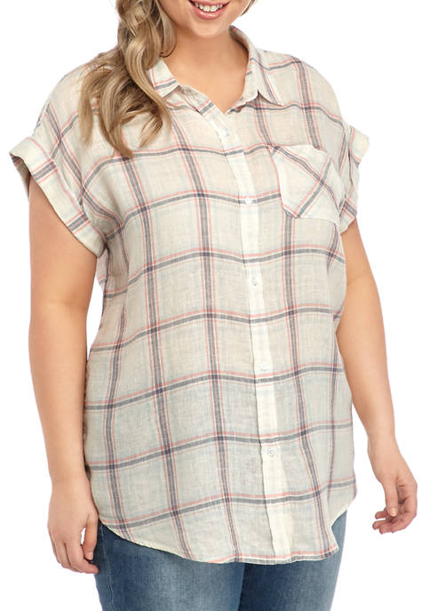 TRUE CRAFT Plus Size Camp Shirt
