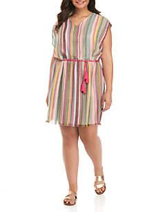 Yarn Dyed Frayed Dress