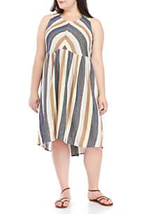 Plus Size Woven Midi Dress