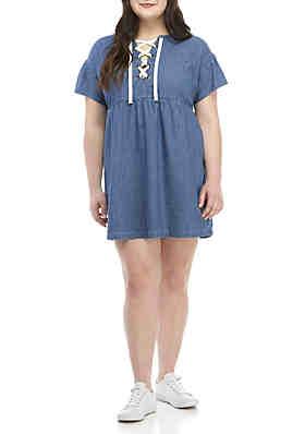2bfd9bbc4a7 TRUE CRAFT Plus Size Babydoll Dress ...