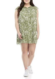 TRUE CRAFT Plus Size Peasant Dress