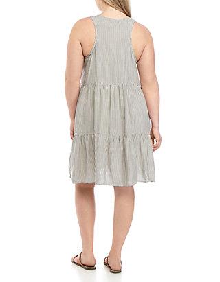 TRUE CRAFT Plus Size Woven Button Front Dress | belk