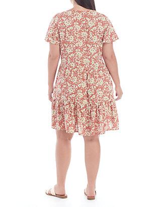 TRUE CRAFT Plus Size Peasant Dress   belk