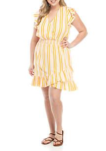 TRUE CRAFT Smocked Wrap Dress