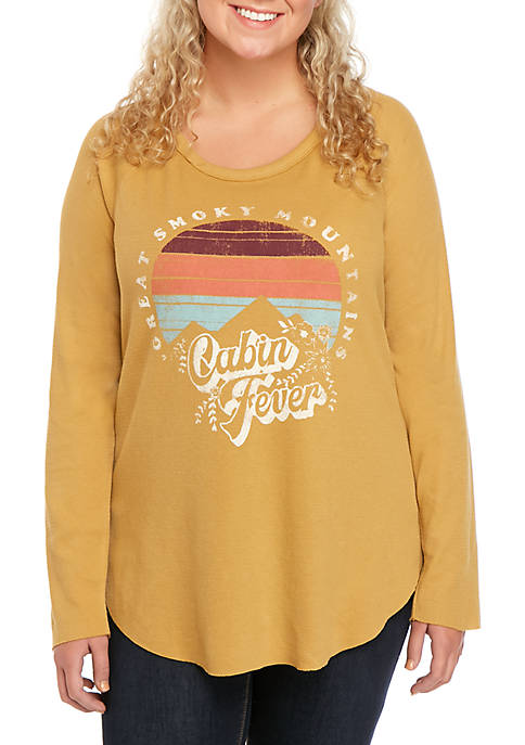 TRUE CRAFT Plus Size Long Sleeve Thermal Top